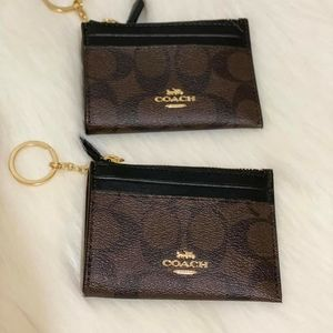 COACH CARD KEY AND CARD HOLDER